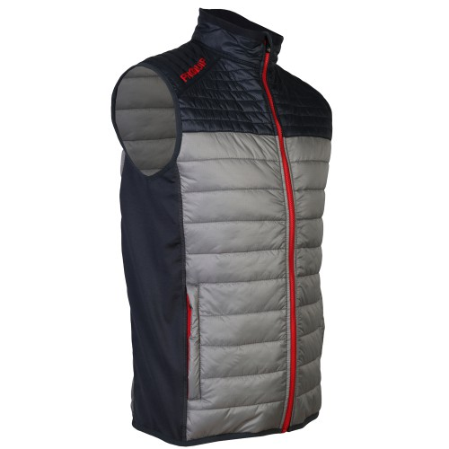 ProQuip Mens Therma Pro Quilted Full Zip Golf Gilet Vest