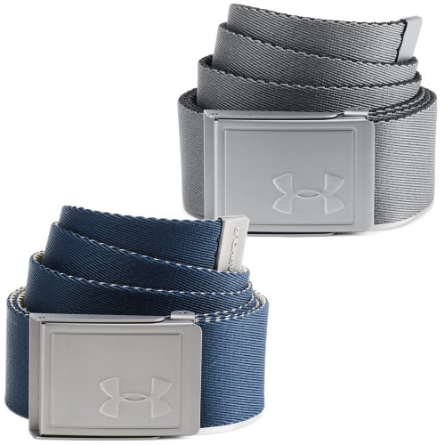 Under Armour Golf Reversible Webbing 2.0 Mens Belt (Zinc Grey)