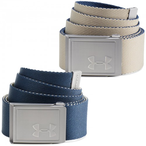 Under Armour Golf Reversible Webbing 2.0 Mens Belt (Academy)