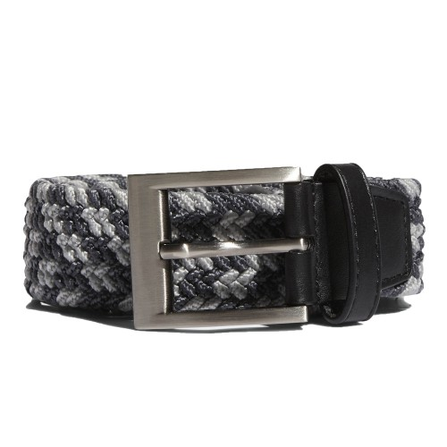 Adidas Golf  Braided Weave Stretch Mens Belt  - Mid Grey/Black