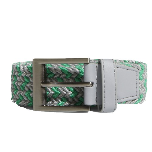 Adidas Golf  Braided Weave Stretch Mens Belt (Hi-Res Green/Grey Two)