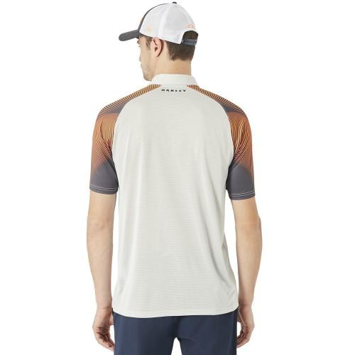 Oakley Mens Sport Aero Motion Sleeve Ohydrolix UPF 50+ Mesh Back Polo Shirt reverse