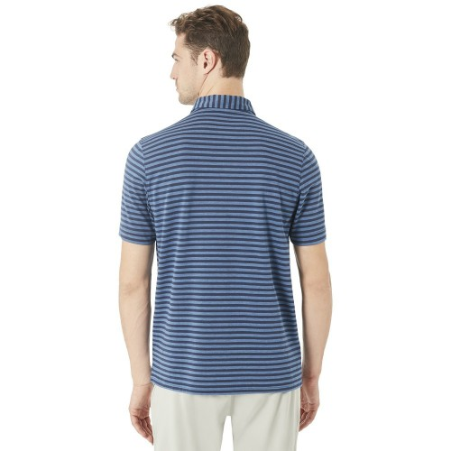Oakley Mens Golf Speed Stripe Polo Shirt reverse
