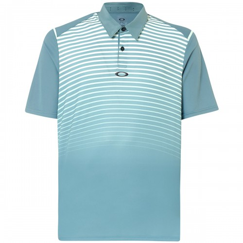Oakley Mens Golf SS Striped Ellipse Short Sleeve Polo Shirt