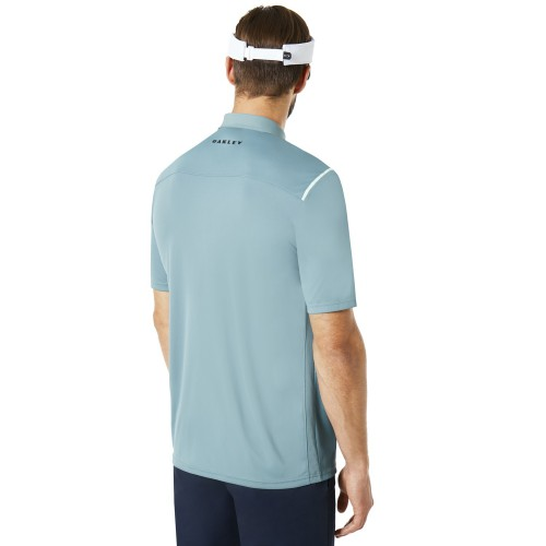 Oakley Mens Golf SS Striped Ellipse Short Sleeve Polo Shirt reverse