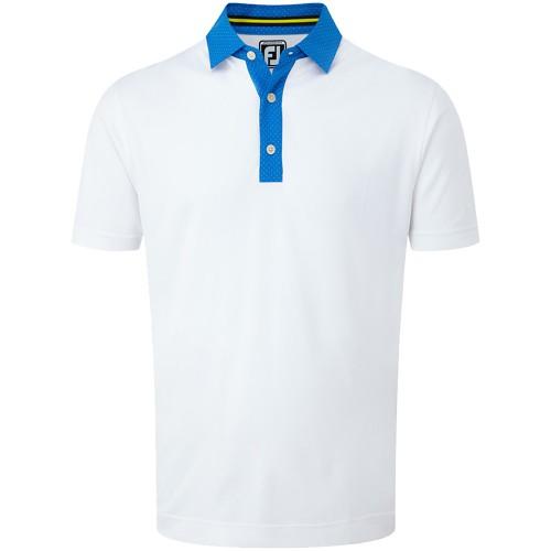 FootJoy Mens Smooth Pique Pin Dot Placket Golf Polo Shirt