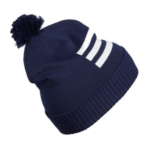 Adidas Climaheat 3-Stripes Golf Pom Pom Beanie Thermal Winter Hat