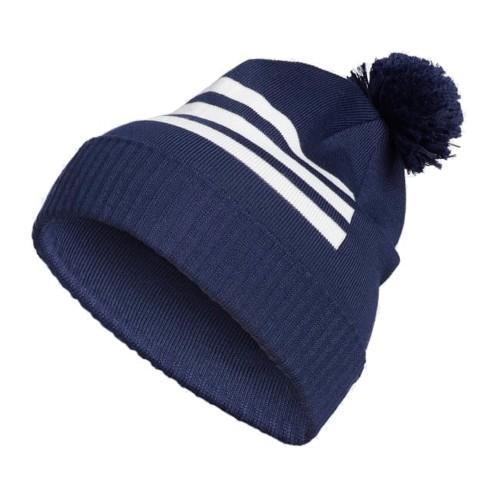 Adidas Climaheat 3-Stripes Golf Pom Pom Beanie Thermal Winter Hat reverse