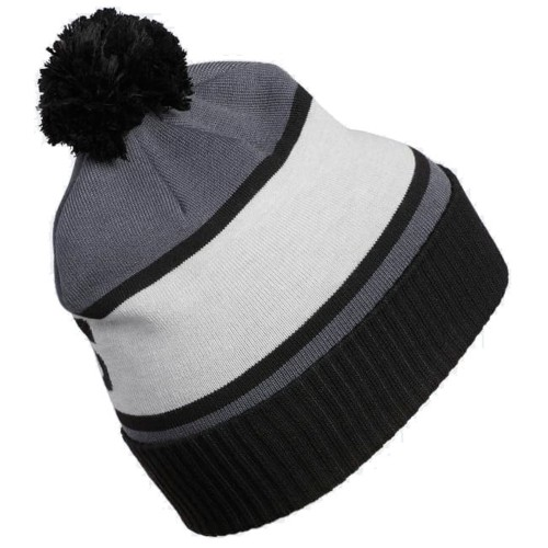 Adidas Climaheat Classic Golf Pom Pom Beanie Thermal Winter Hat reverse