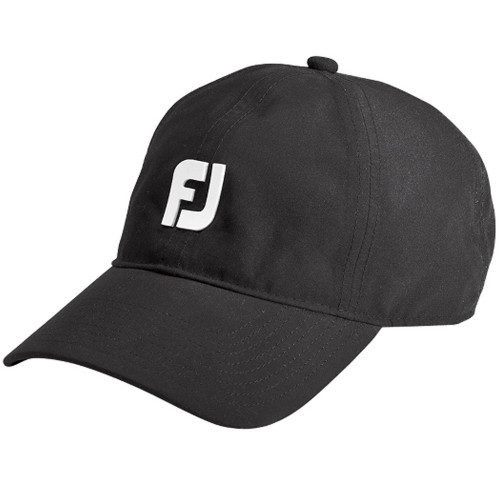 Footjoy Mens Dryjoys Waterproof Baseball Cap Hat (Black)