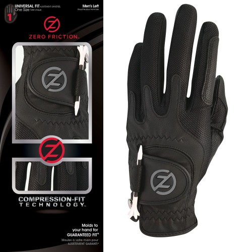ZERO FRICTION GOLF GLOVE ONE SIZE COMPRESSION FIT MENS LEFT HAND ALL COLOURS