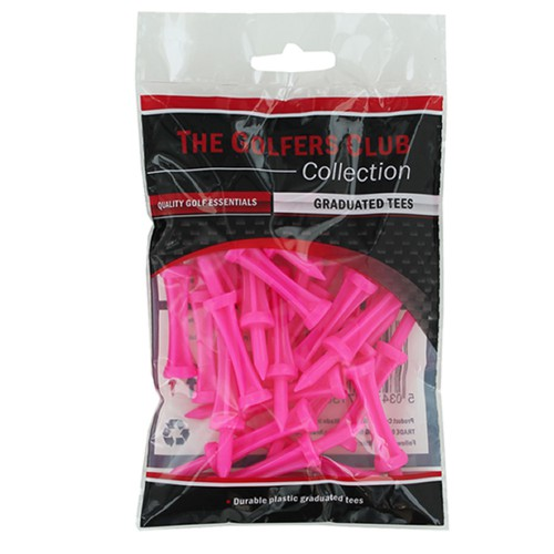 CASTLE GOLF TEES BY THE GOLFERS CLUB NEW DURABLE PLASTIC GRADUATED STEP TEES