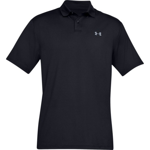 Under Armour Performance 2.0 Mens Golf Polo Shirt (Black)