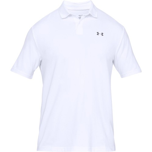 Under Armour Performance 2.0 Mens Golf Polo Shirt (White)