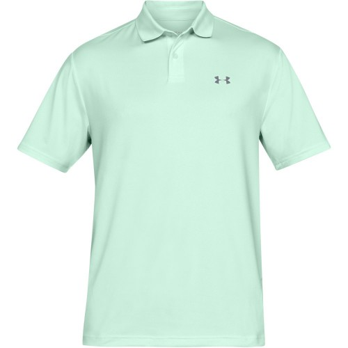 Under Armour Performance 2.0 Mens Golf Polo Shirt (Aqua Foam)