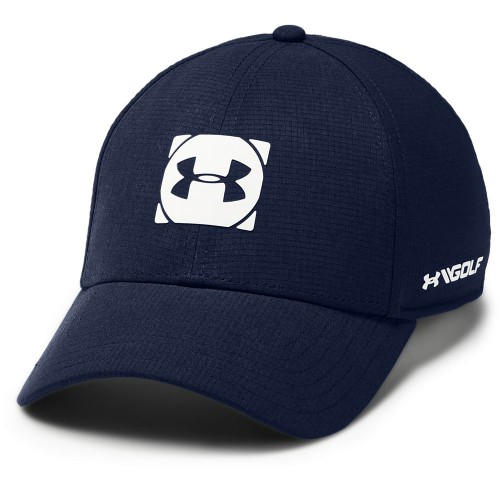 Under Armour Golf Official Tour 3.0 Mens Baseball Cap (Academy/White)