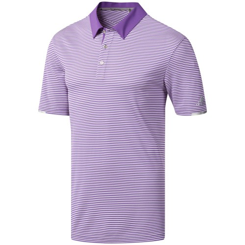 adidas Golf Climachill Tonal Stripe Mens Short Sleeve Polo Shirt (Active Purple)