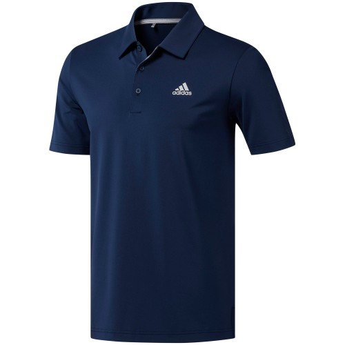 adidas Golf Ultimate 365 Solid Mens Short Sleeve Polo Shirt (Collegiate Navy)