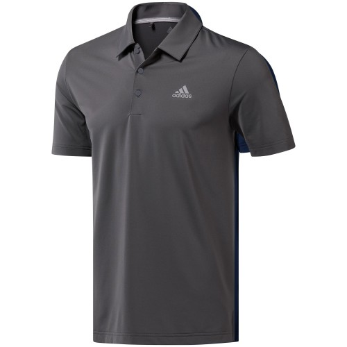 adidas Golf Ultimate 365 Solid Mens Short Sleeve Polo Shirt (Grey Five)