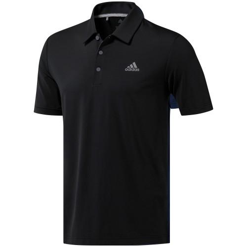 adidas Golf Ultimate 365 Solid Mens Short Sleeve Polo Shirt (Black)