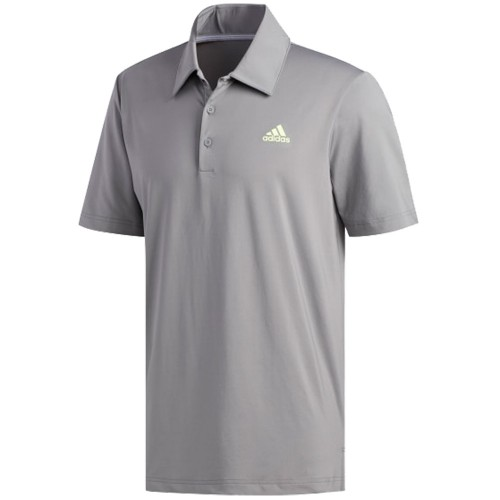 adidas Golf Ultimate 365 Solid Mens Short Sleeve Polo Shirt (Grey/White)