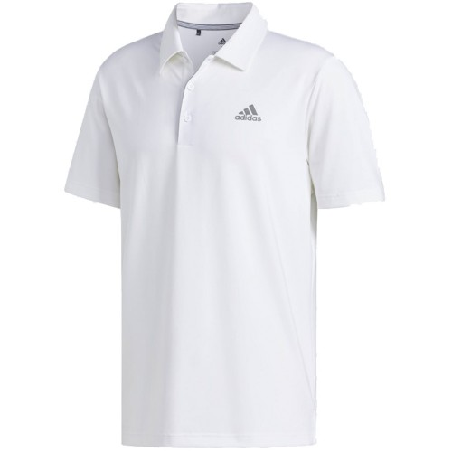 adidas Golf Ultimate 365 Solid Mens Short Sleeve Polo Shirt (White)