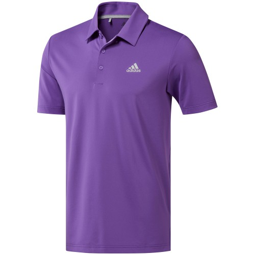 adidas Golf Ultimate 365 Solid Mens Short Sleeve Polo Shirt (Active Purple)