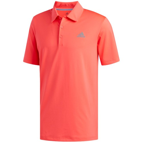 adidas Golf Ultimate 365 Solid Mens Short Sleeve Polo Shirt (Hi Res Red)