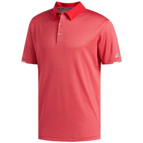 Adidas Golf 2019 Mens ClimaChill Core Heather Short Sleeve Polo Shirt