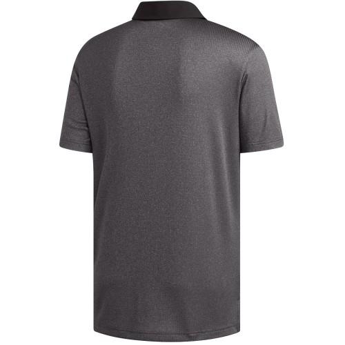 Adidas Golf 2019 Mens ClimaChill Core Heather Short Sleeve Polo Shirt reverse