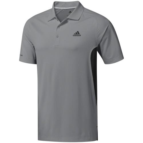 adidas Golf Ultimate 365 Climacool Solid Mens Short Sleeve Polo Shirt (Grey Three)