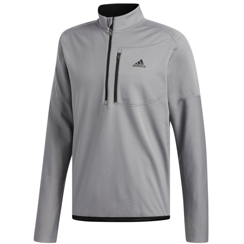 adidas Golf Climawarm Gridded 1/4 Zip Mens Sweater  - Grey Three