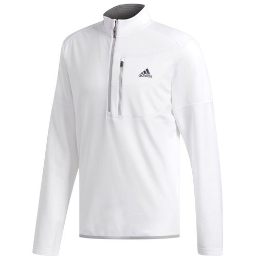 adidas Golf Climawarm Gridded 1/4 Zip Mens Sweater (White)