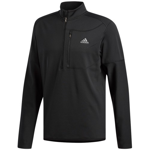 adidas Golf Climawarm Gridded 1/4 Zip Mens Sweater (Black)