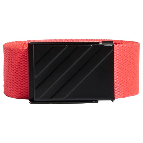 adidas 3-Stripes Buckle Webbing Golf Belt (Shock Red)