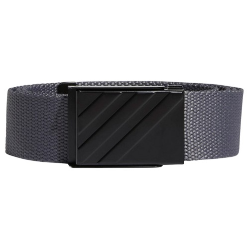 adidas 3-Stripes Buckle Webbing Golf Belt (Grey Four)