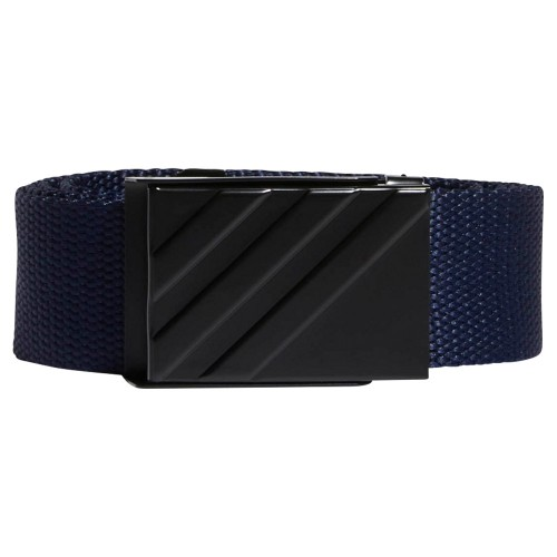 adidas 3-Stripes Buckle Webbing Golf Belt (Collegiate Navy)