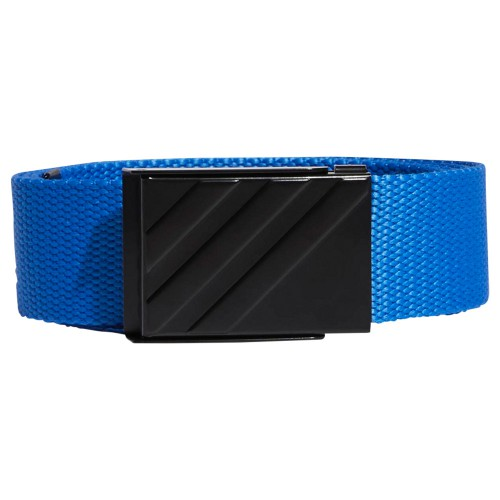 adidas 3-Stripes Buckle Webbing Golf Belt (True Blue)