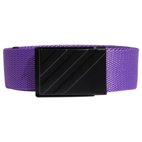 adidas 3-Stripes Buckle Webbing Golf Belt (Active Purple)