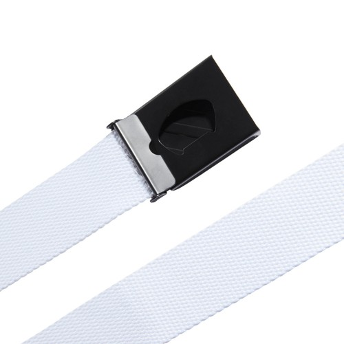 adidas 3-Stripes Buckle Webbing Golf Belt  - White