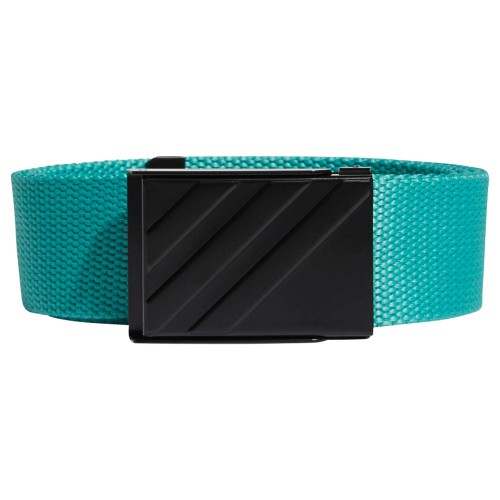 adidas 3-Stripes Buckle Webbing Golf Belt (True Green)