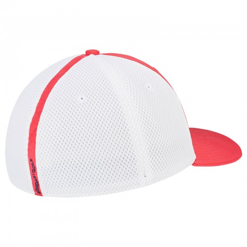 Adidas Mens A-Stretch Tour Fitted Golf Cap Breathable Mesh Baseball Hat reverse