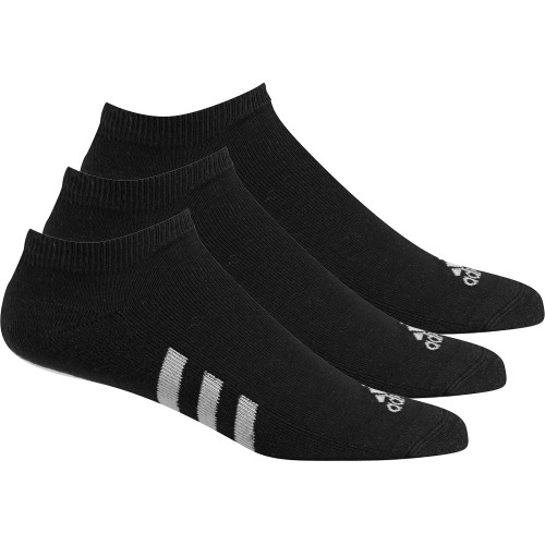Adidas 2019 Golf No Show Performance Stripe Socks - 3 Pack