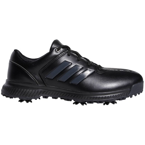 adidas CP Traxion Water-Resistant Mens Golf Shoes - Wide Fit  - Core Black/Carbon/Iron Metallic
