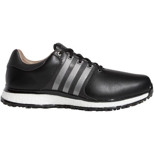 adidas Tour 360 XT-SL Waterproof Spikeless Mens Golf Shoes - Wide Fit (Core Black/Iron Metallic)