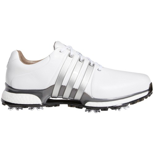 adidas Tour 360 XT Waterproof Mens Golf Shoes - Wide Fit (White/Silver Metallic)