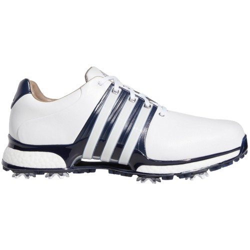 adidas Tour 360 XT Waterproof Mens Golf Shoes - Wide Fit (White/Collegiate Navy)