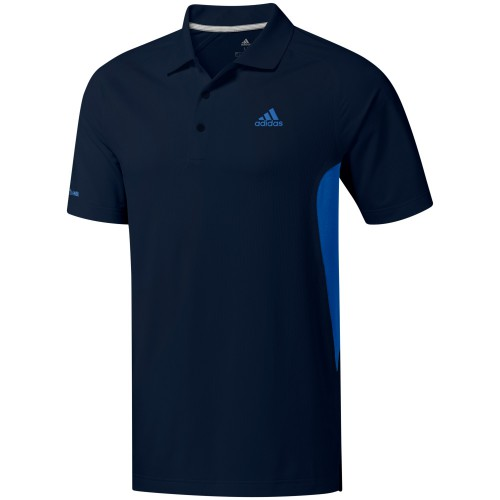 adidas Golf Ultimate 365 Climacool Solid Mens Short Sleeve Polo Shirt (Collegiate Navy)