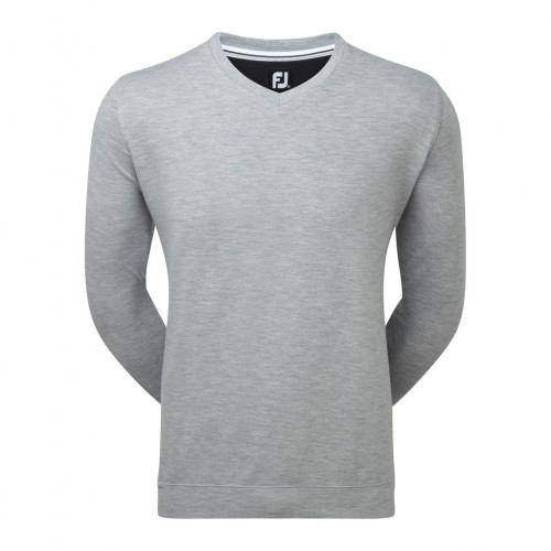 FootJoy Mens Spun Poly V-Neck Pullover Sweater Jumper - Athletic Fit