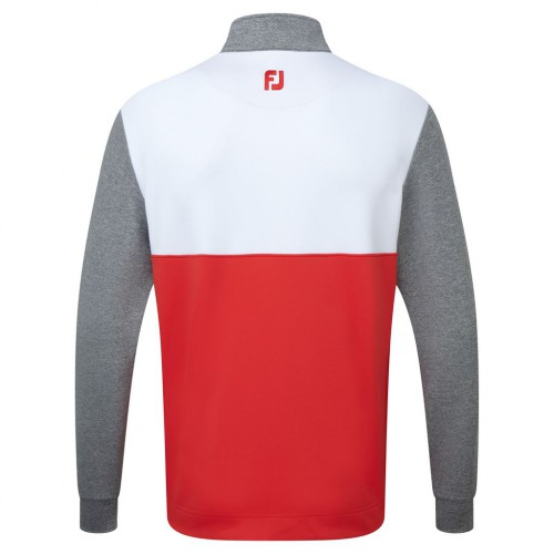 FootJoy Mens Colour Block Chillout Golf Pullover 1/4 Zip Sweater - Athletic Fit reverse